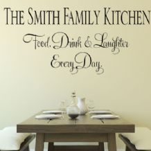 Personalised Family Kitchen ~ Eat Drink Laughter  ~ Wall sticker / decals (1)